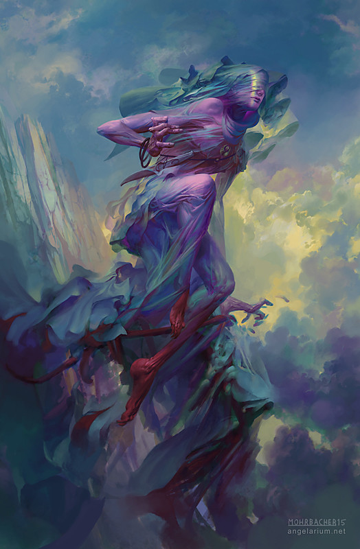 peter mohrbacher digital painting illustration Tamiel Angel of the Unseen