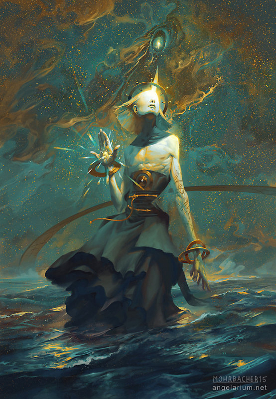 peter mohrbacher digital painting illustration Kokabiel Angel of the Stars