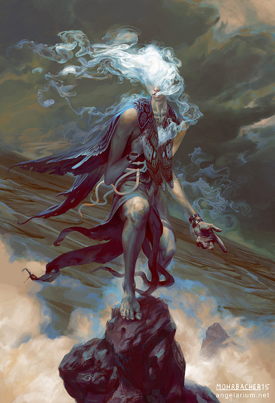 ppeter mohrbacher digital painting illustration Sathariel Angel of Deception