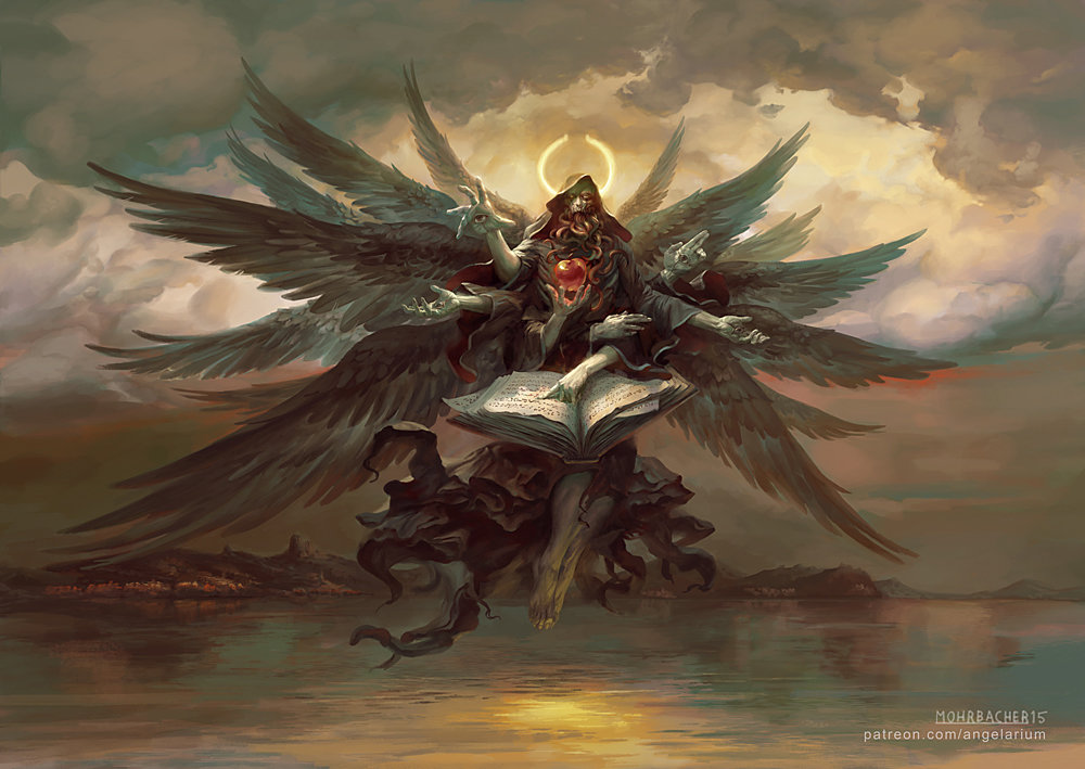 peter mohrbacher digital painting illustration Azrael Angel of Death
