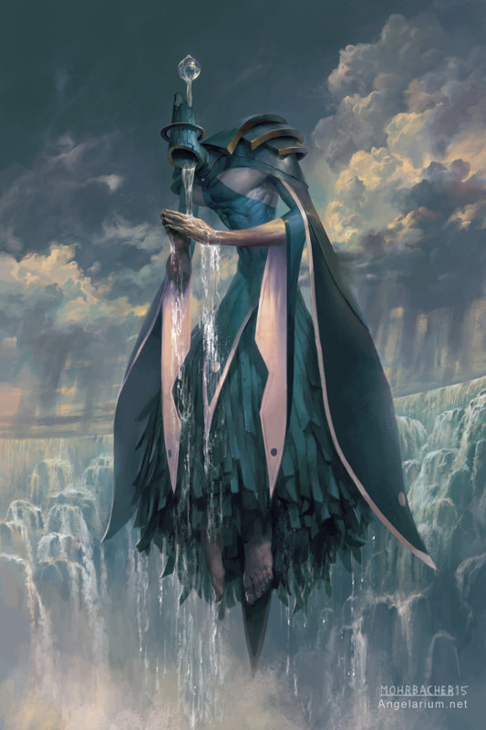 peter mohrbacher digital painting illustration Matariel Angel of Rain