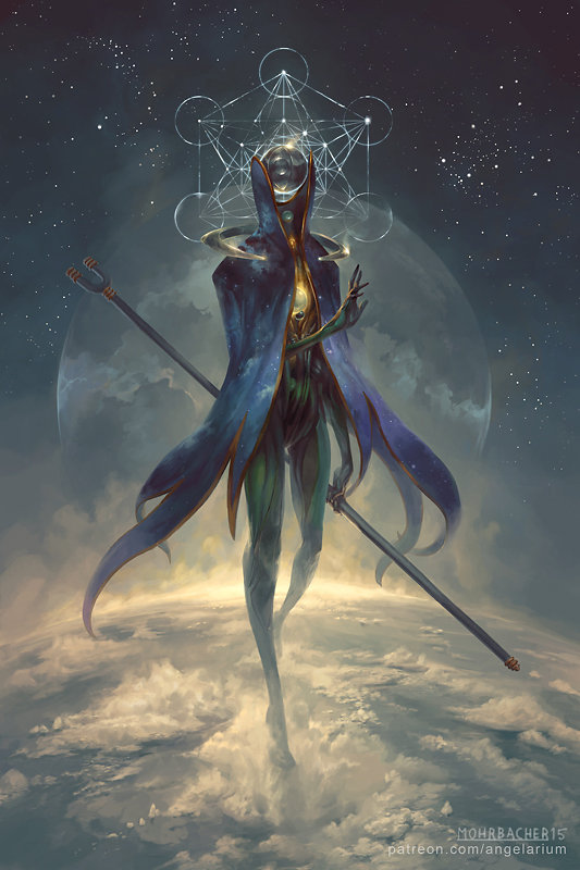 peter mohrbacher digital painting illustration Eistibus Angel of Divination