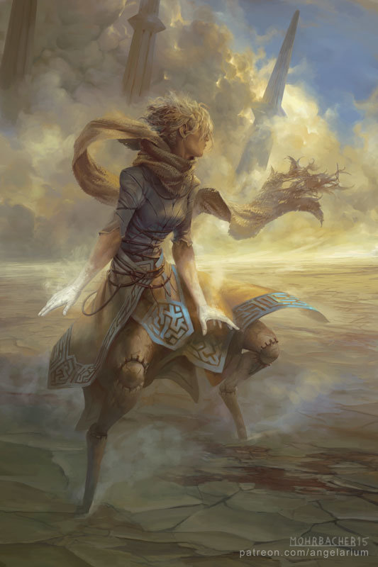 peter mohrbacher digital painting illustration Suphlatus Angel of Dust