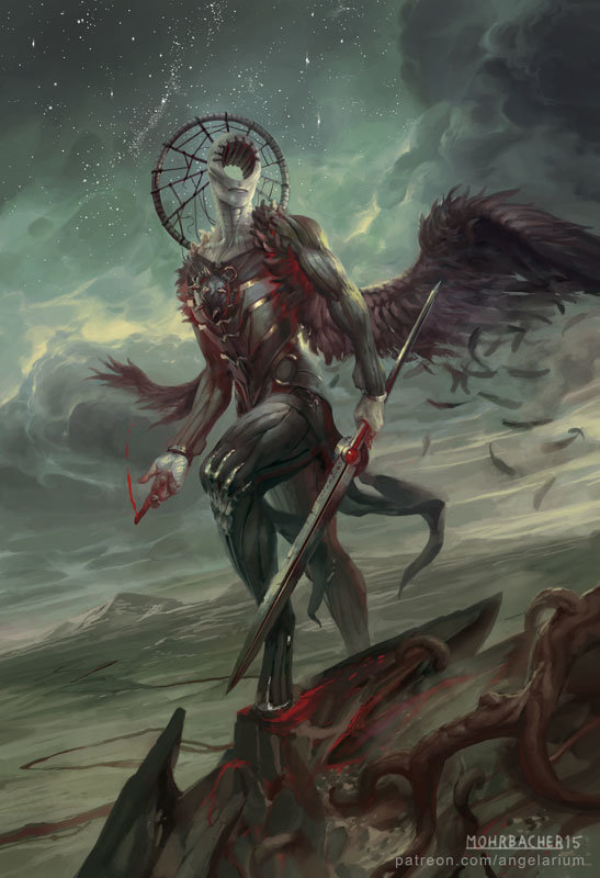 peter mohrbacher digital painting illustration Simikiel Angel of Vengeance