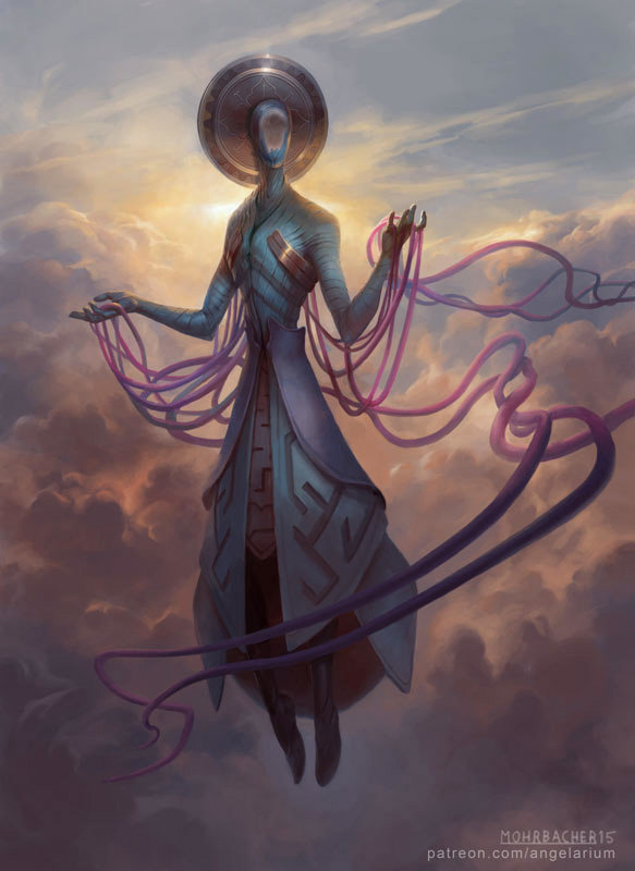 peter mohrbacher digital painting illustration Zachriel Angel of Memory