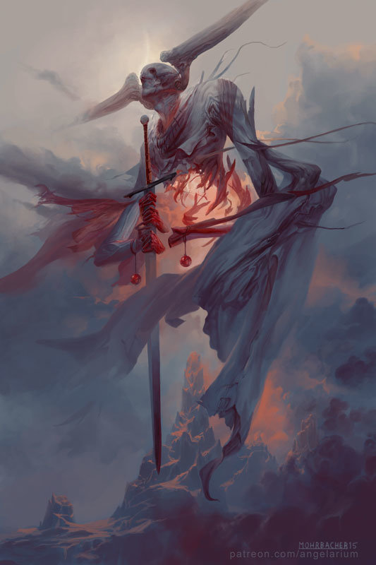 peter mohrbacher digital painting illustration Gevurah