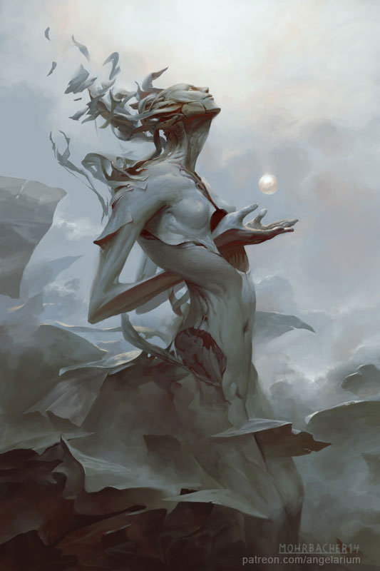 peter mohrbacher digital painting illustration Binah