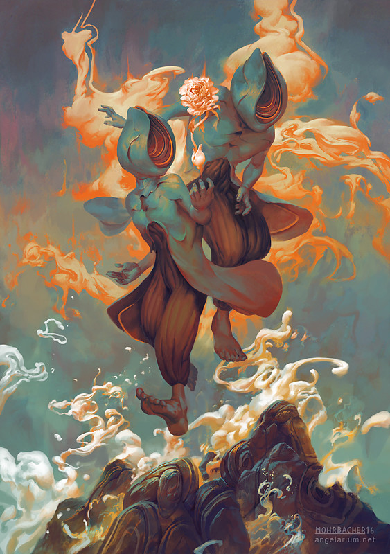 peter mohrbacher digital painting illustration Sandalphon Angel of New Life