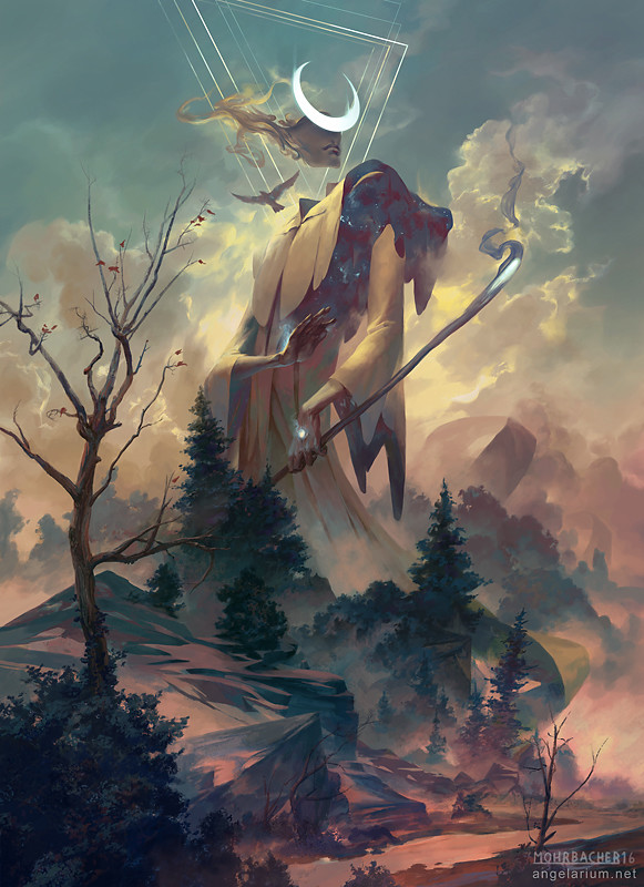 peter mohrbacher digital painting illustration Remiel Angel of Visions