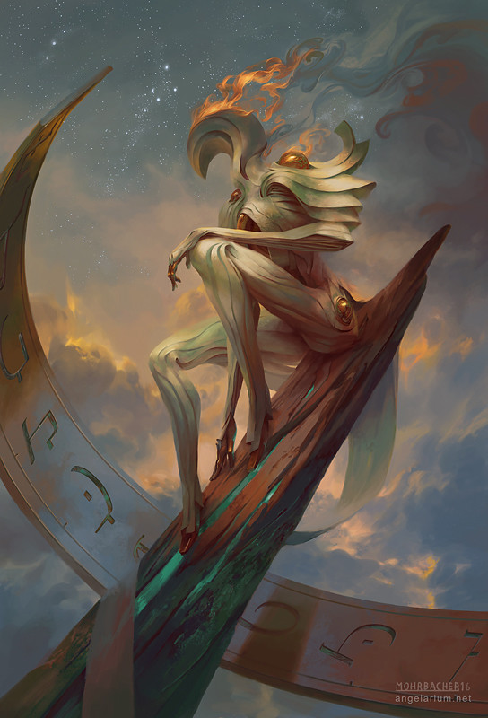 peter mohrbacher digital painting illustration Remph Angel of Time