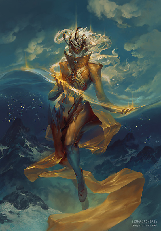peter mohrbacher digital painting illustration Dumah Angel of Dreams
