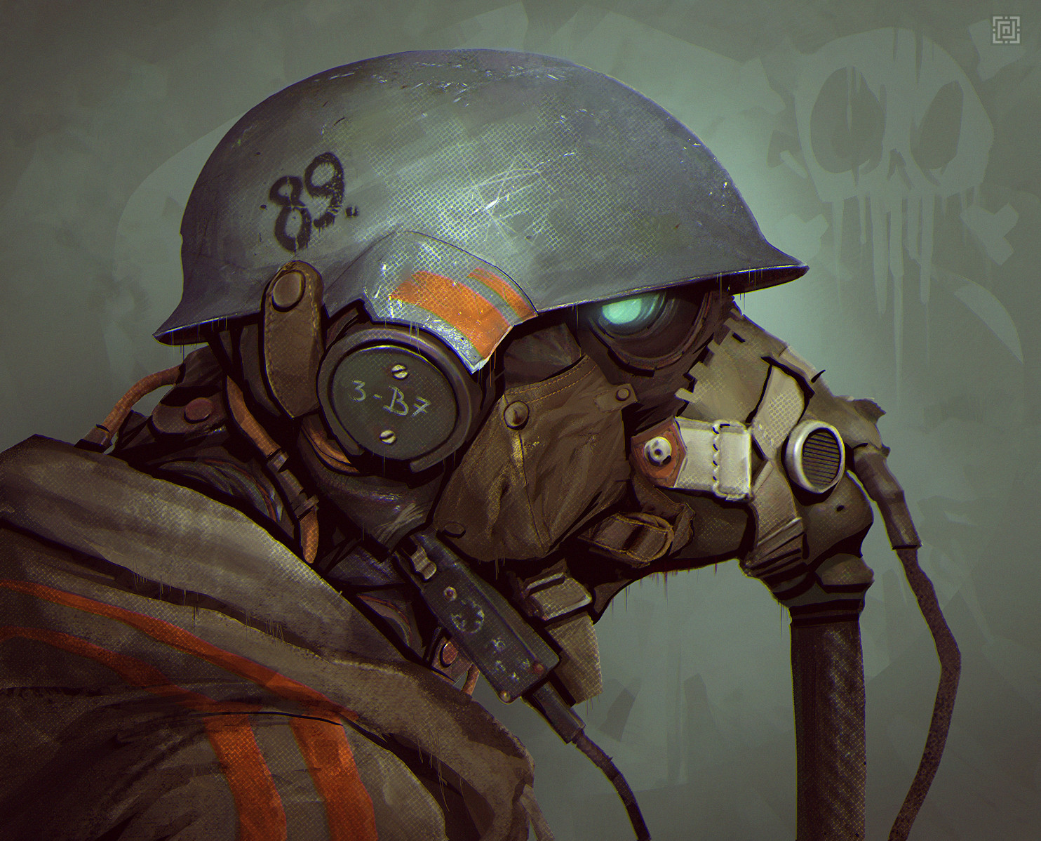 Deadslug_digital_painting_illustration_mask_helmet_soldier