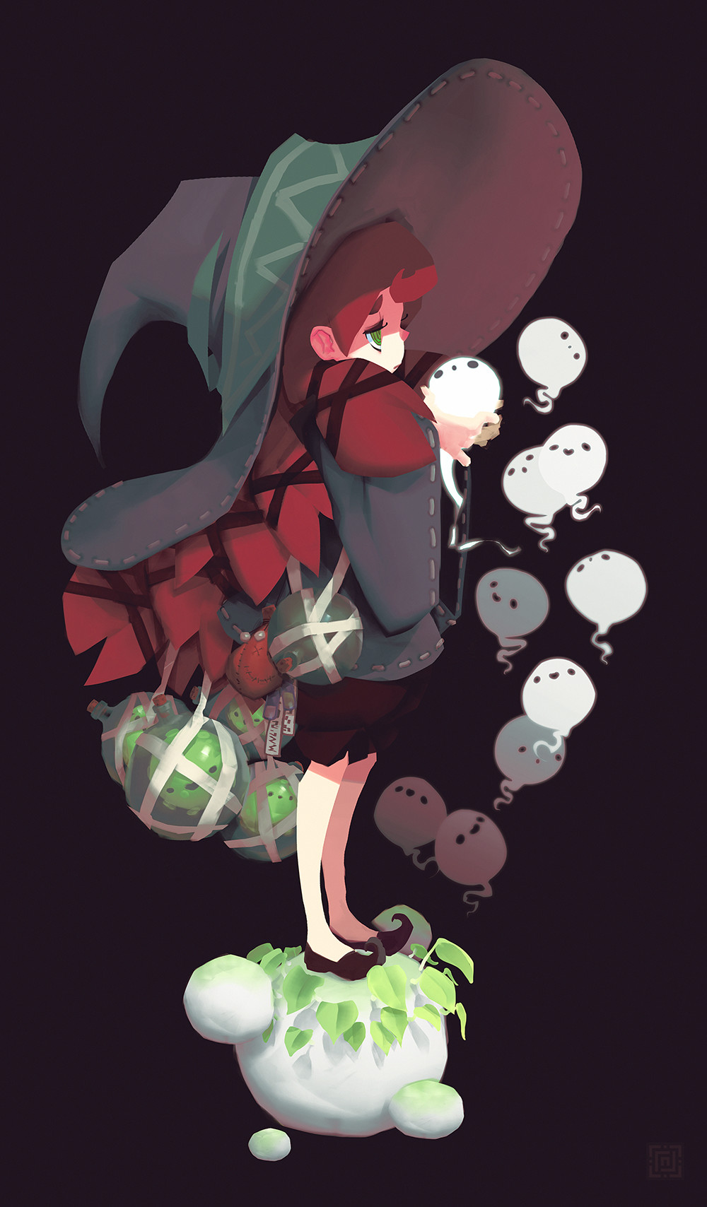 Deadslug_digital_painting_illustration_girl_witch_spirits