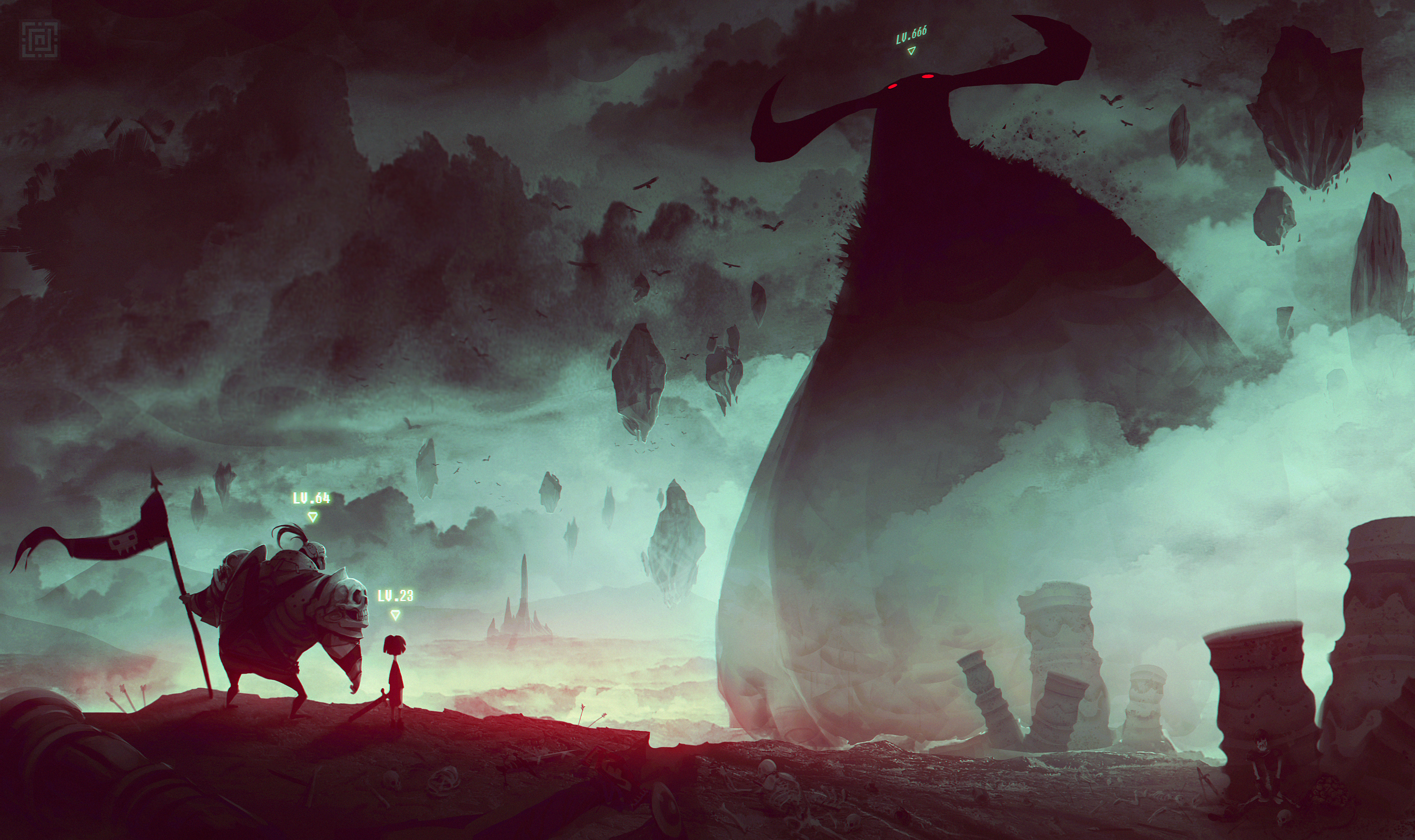 Deadslug_digital_painting_illustration_levelup_warrior_boss