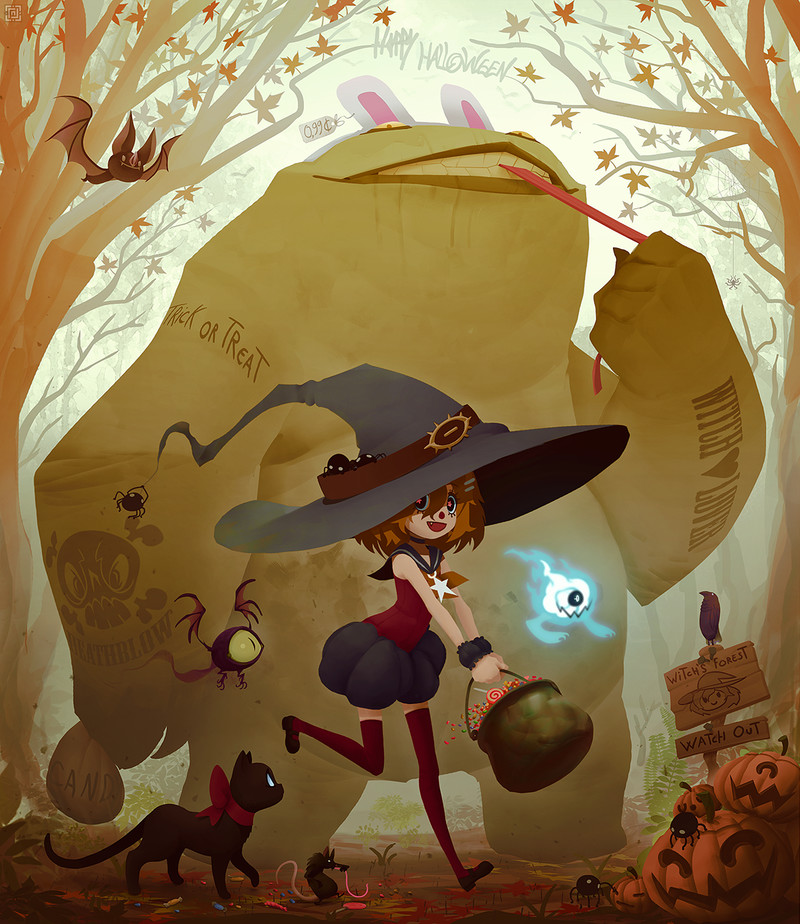 Deadslug_digital_painting_illustration_witch_halloween