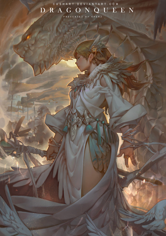 Krenz_Cushart_digital_painting_illustration_dragon_queen