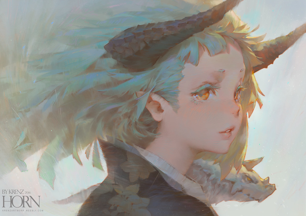 Krenz_Cushart_digital_painting_illustration_portrait_horn