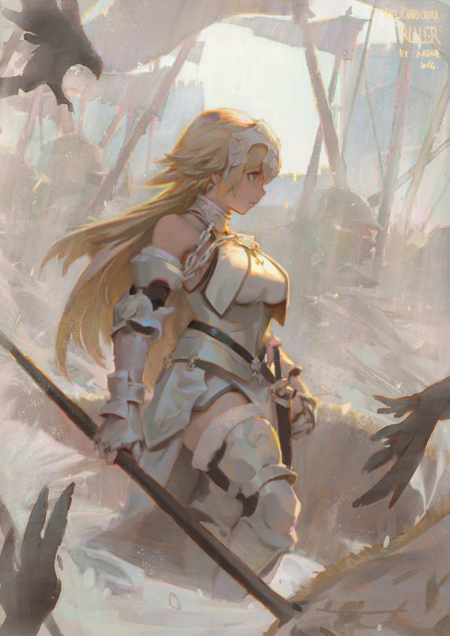 Krenz_Cushart_digital_painting_girl_warrior
