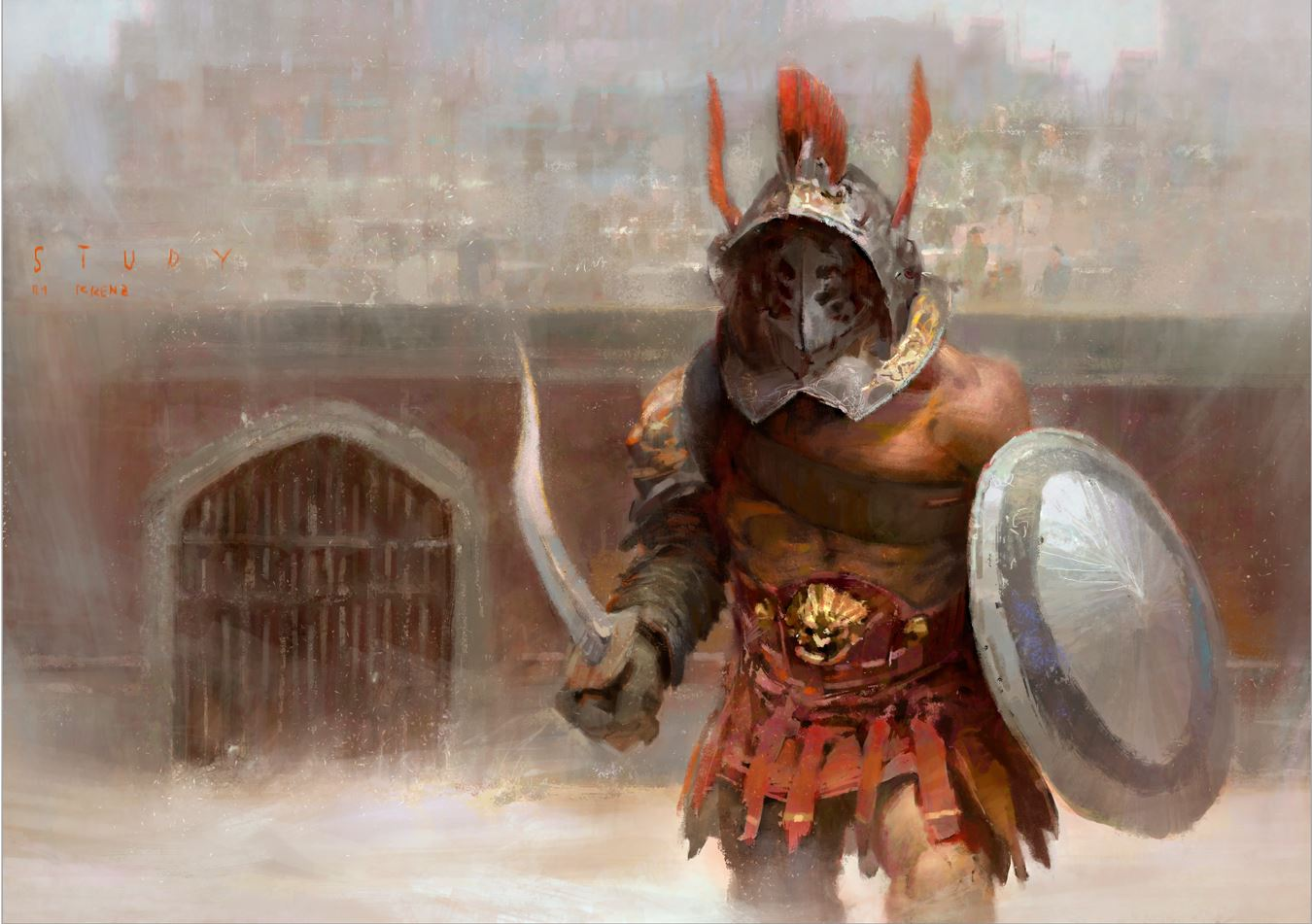 Krenz_Cushart_digital_painting_illustration_gladiator_study