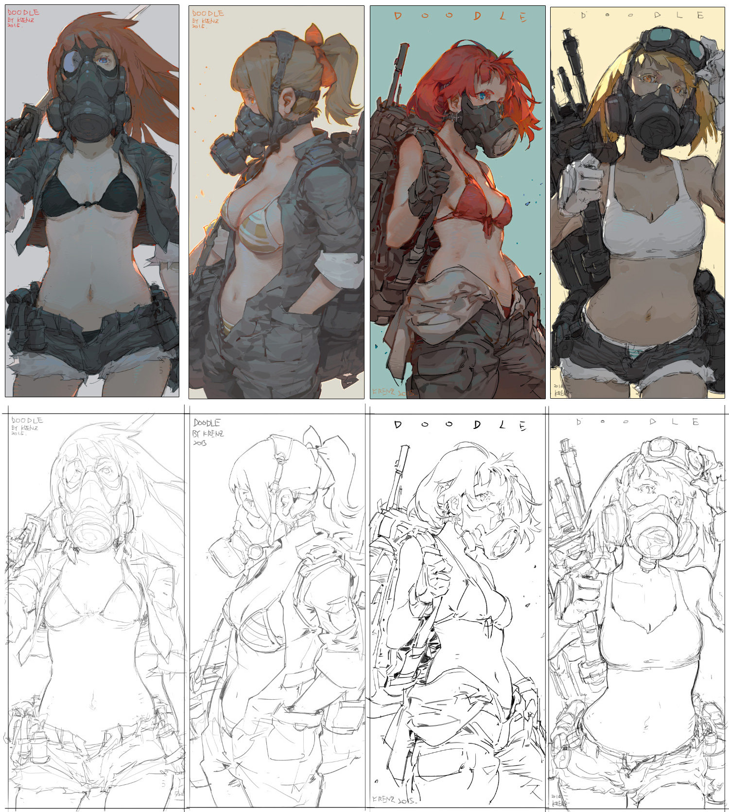Krenz_Cushart_digital_painting_illustration_girls_doodle
