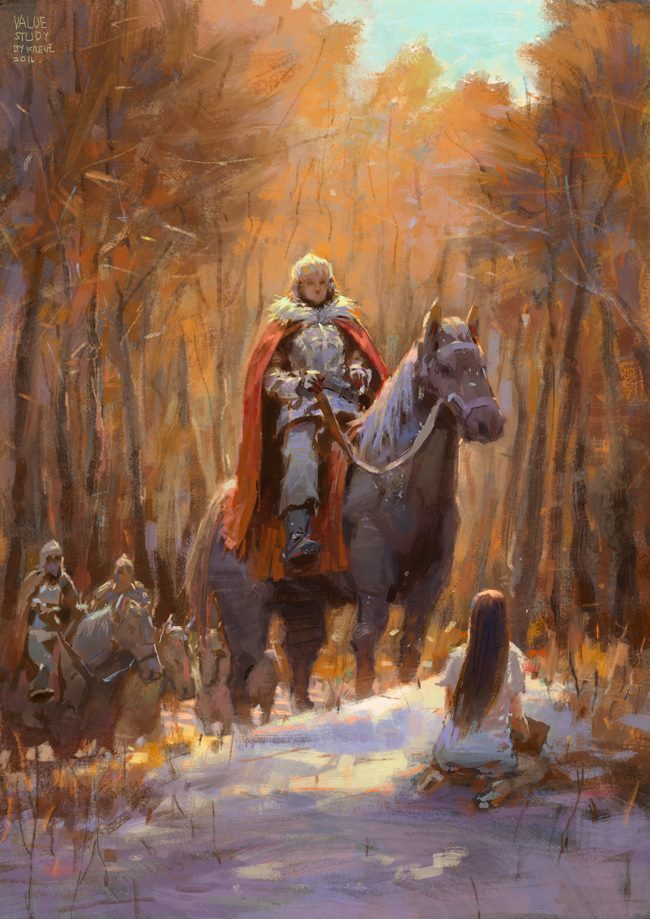 Krenz_Cushart_digital_painting_illustration_knight_horse_conceptart