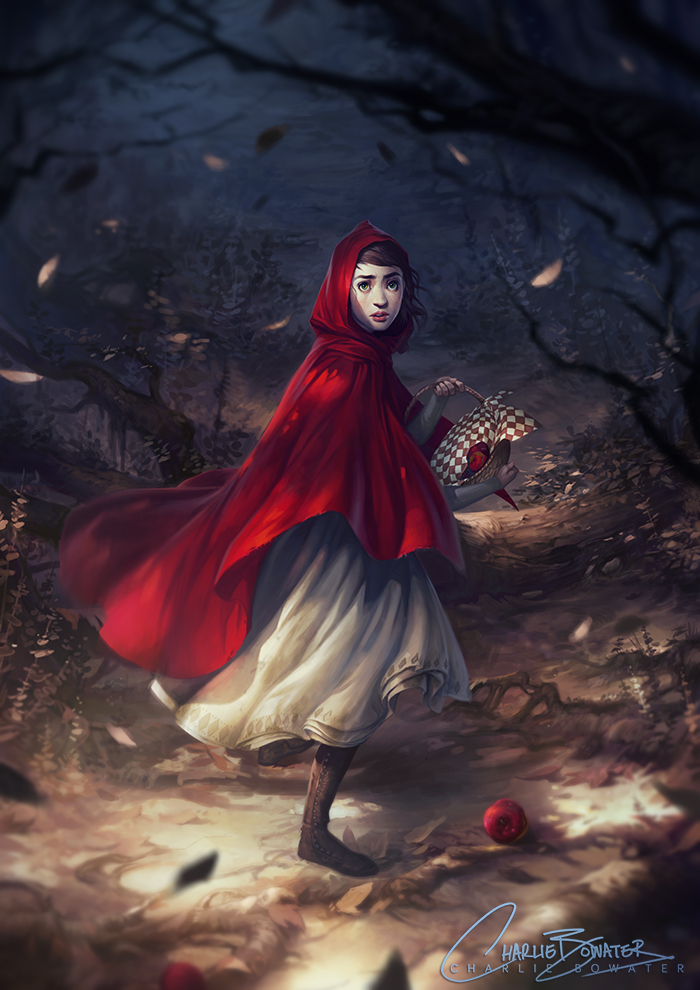 Charlie_Bowater_digital_painting_illustration_redridinghood_forest
