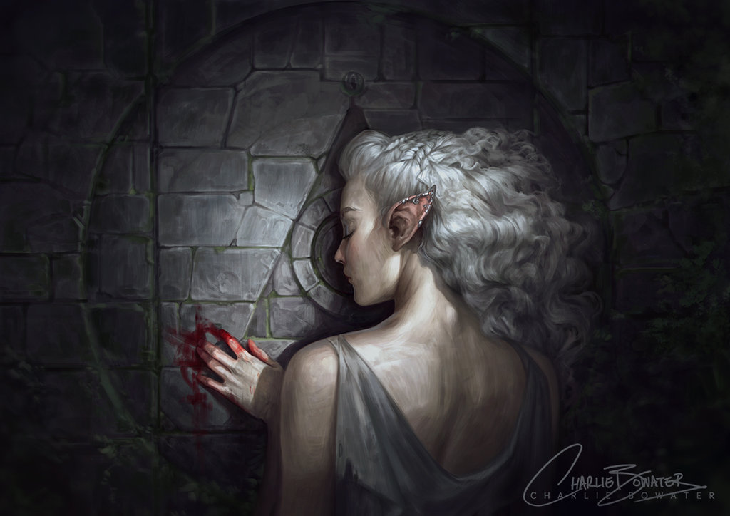 Charlie_Bowater_digital_painting_illustration_gate_elf_fairy