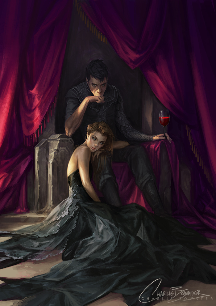 Charlie_Bowater_digital_painting_illustration_throne_curtains