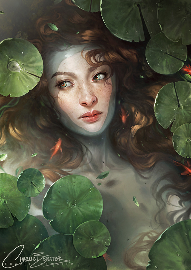 Charlie_Bowater_digital_painting_illustration_ophelia_water
