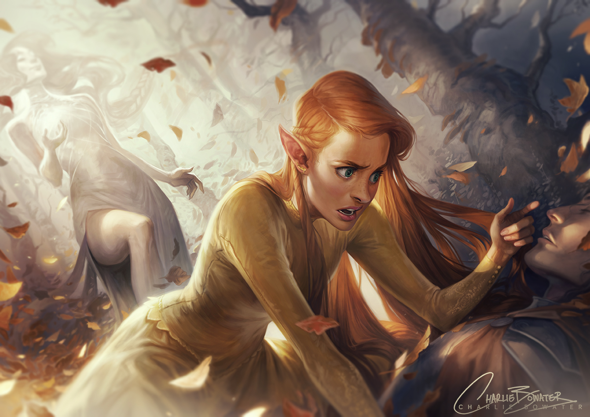 Charlie_Bowater_digital_painting_illustration_elf_fall_autumn