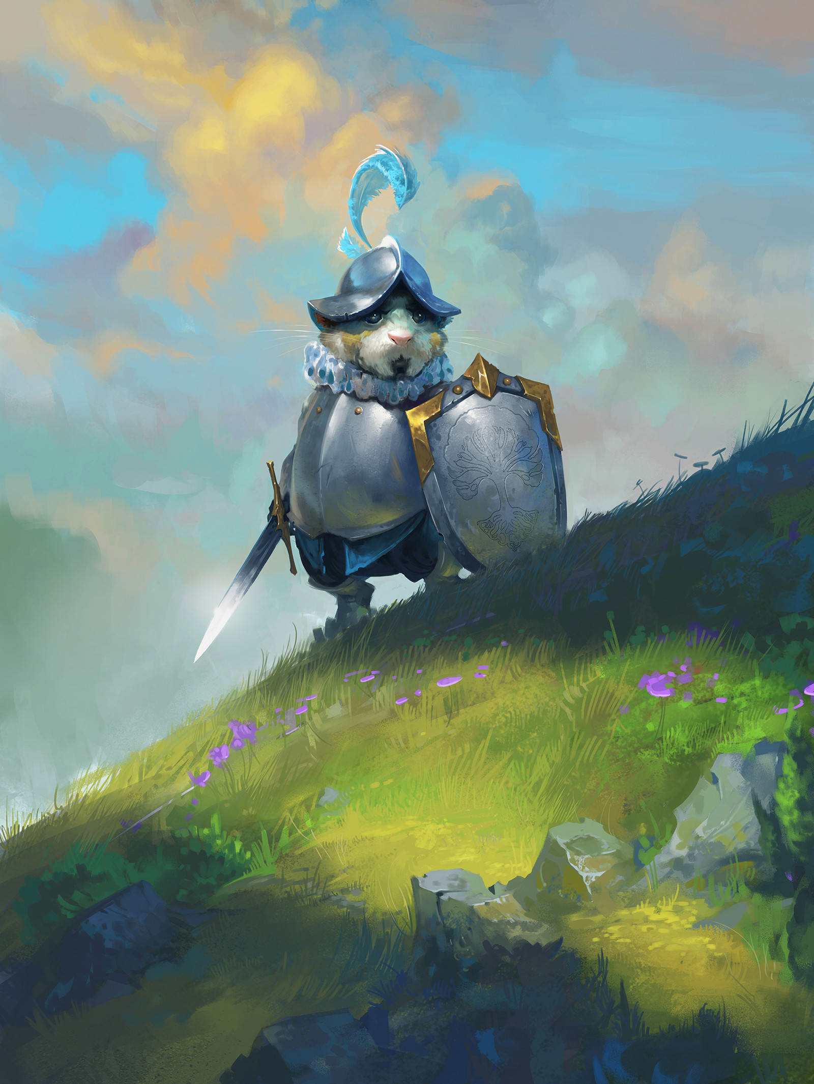 Dave Greco Digital Painting Crowfall On a hill Hamster