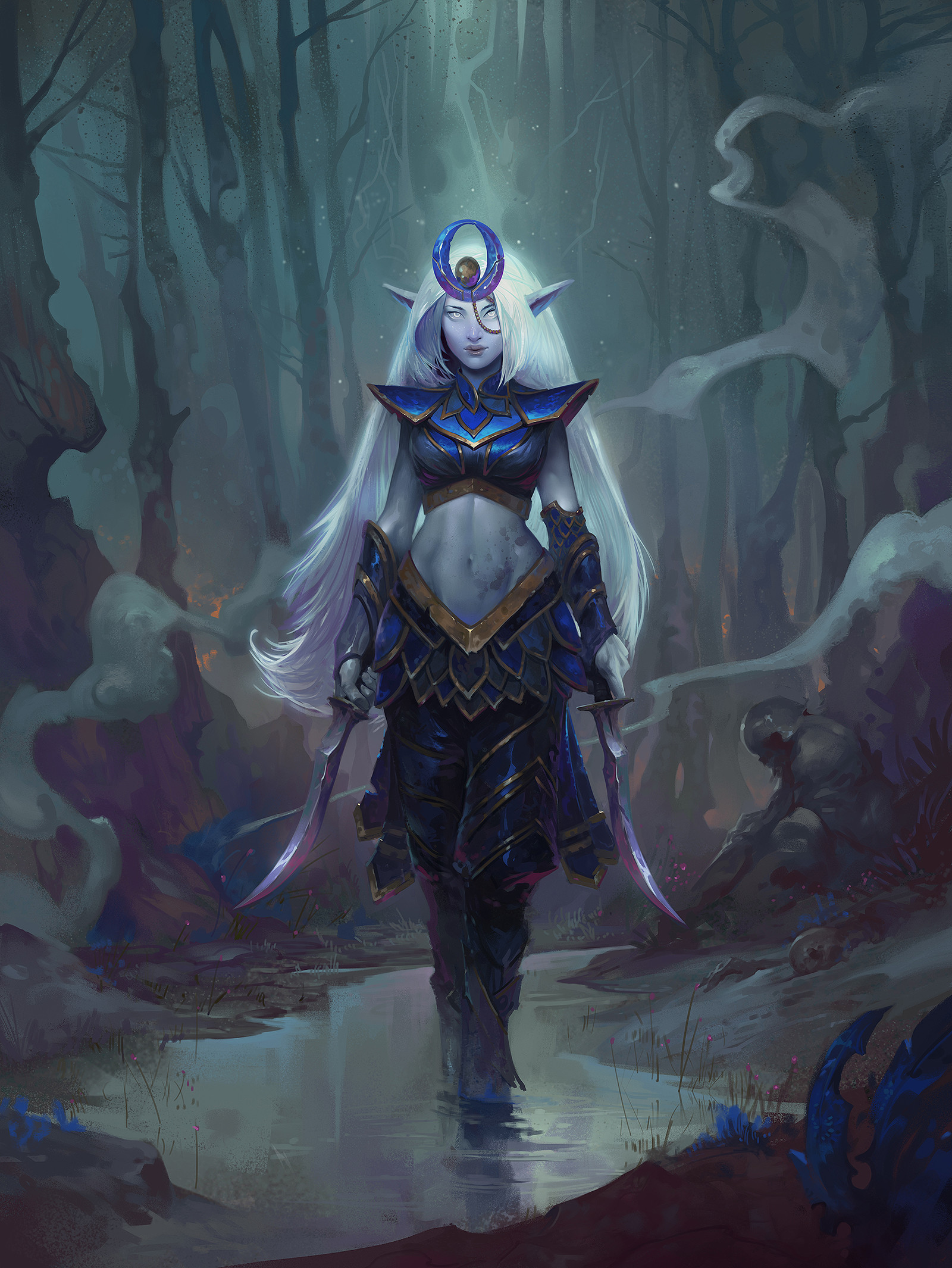 Dave Greco Digital Painting Crowfall Elf Eternal Love Moon