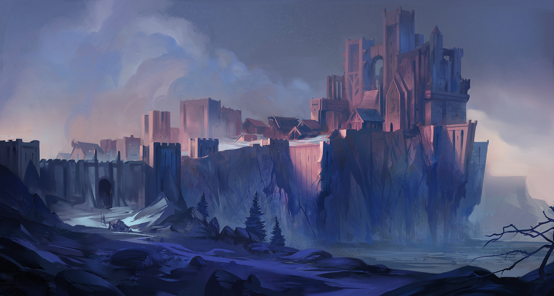 Dave Greco Digital Painting Crowfall The citadell