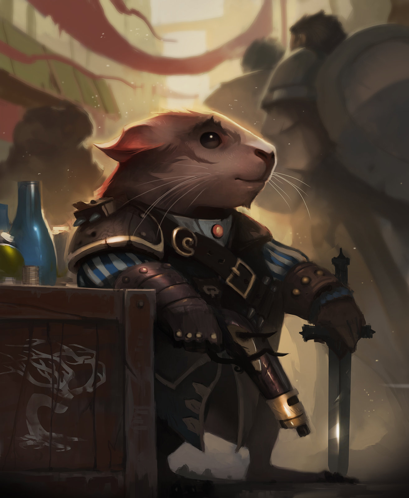 Dave Greco Digital Painting Crowfall The Guenician duelist hamster sword