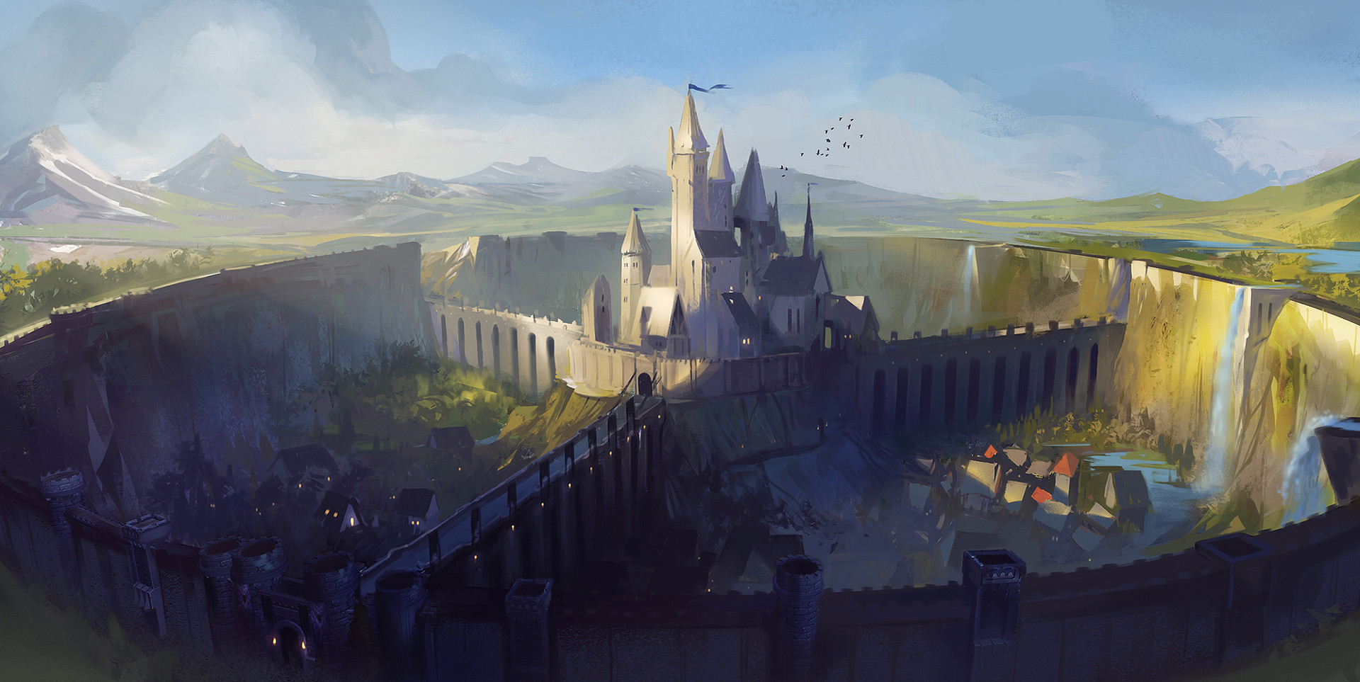Dave Greco Digital Painting Crowfall The palace land of wonder