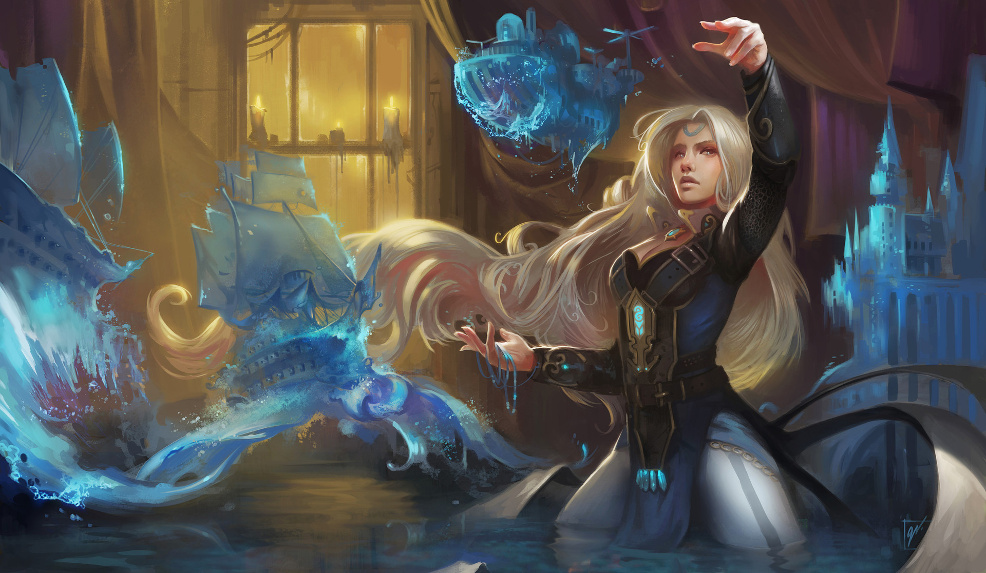 Dave Greco Digital Painting Crowfall Ethama Water sculptor mage