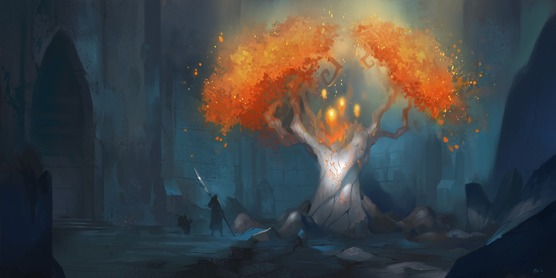 Dave Greco Digital Painting Crowfall The tree of life