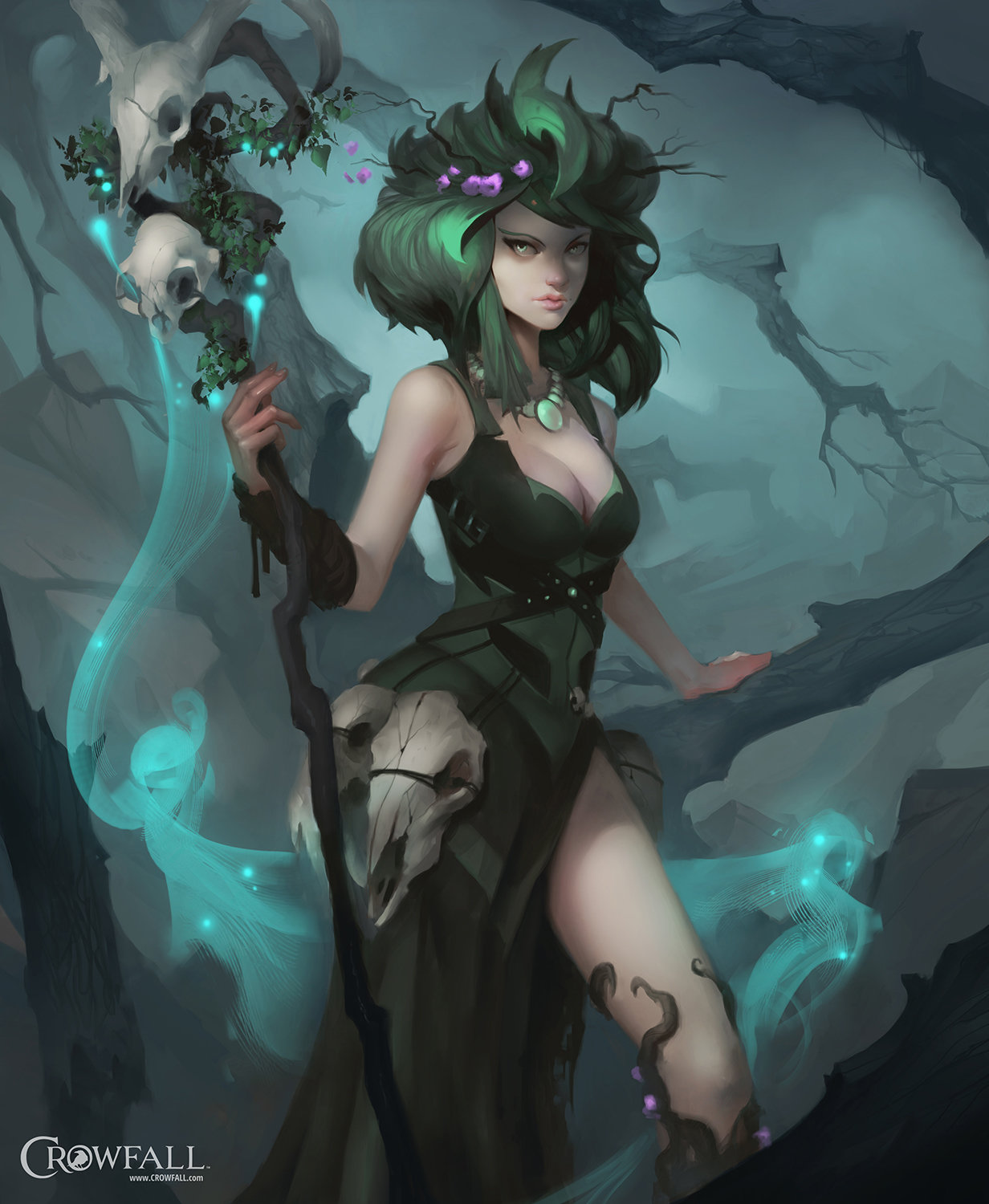 Dave Greco Digital Painting Crowfall Druid Class