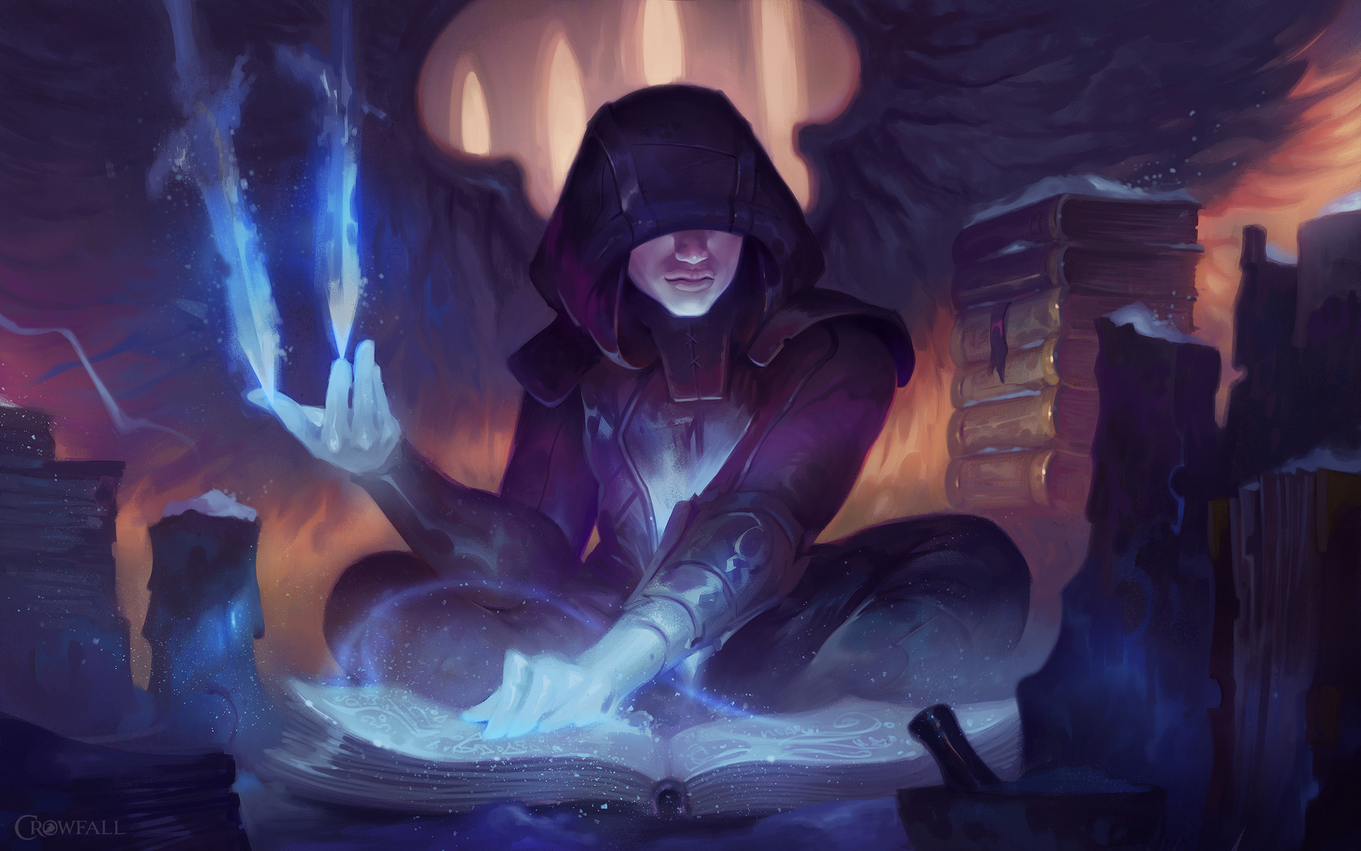 Dave Greco Digital Painting Crowfall Mage Fae Frostweaver