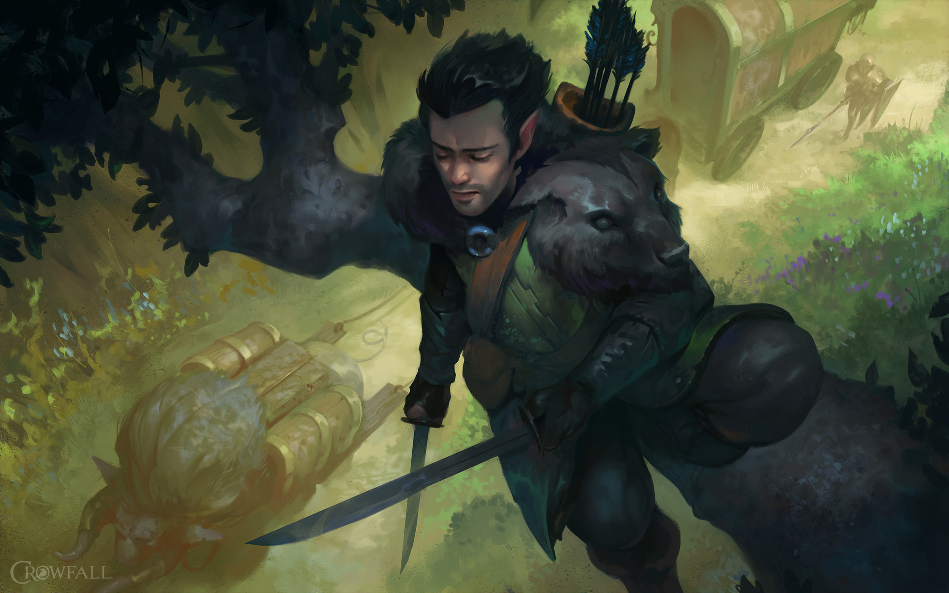 Dave Greco Digital Painting Crowfall Up Above Hunter