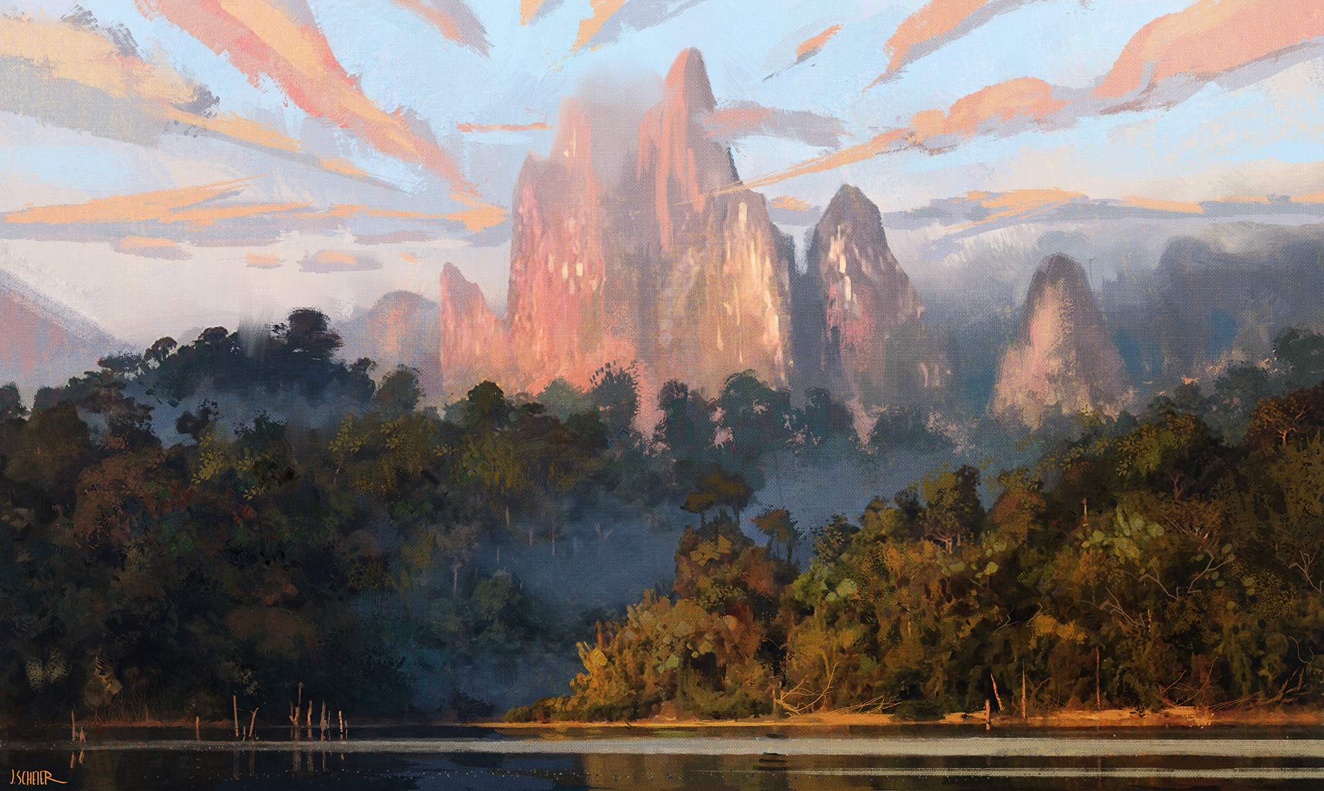 digital-painting-jason-scheier-river-mountains-js