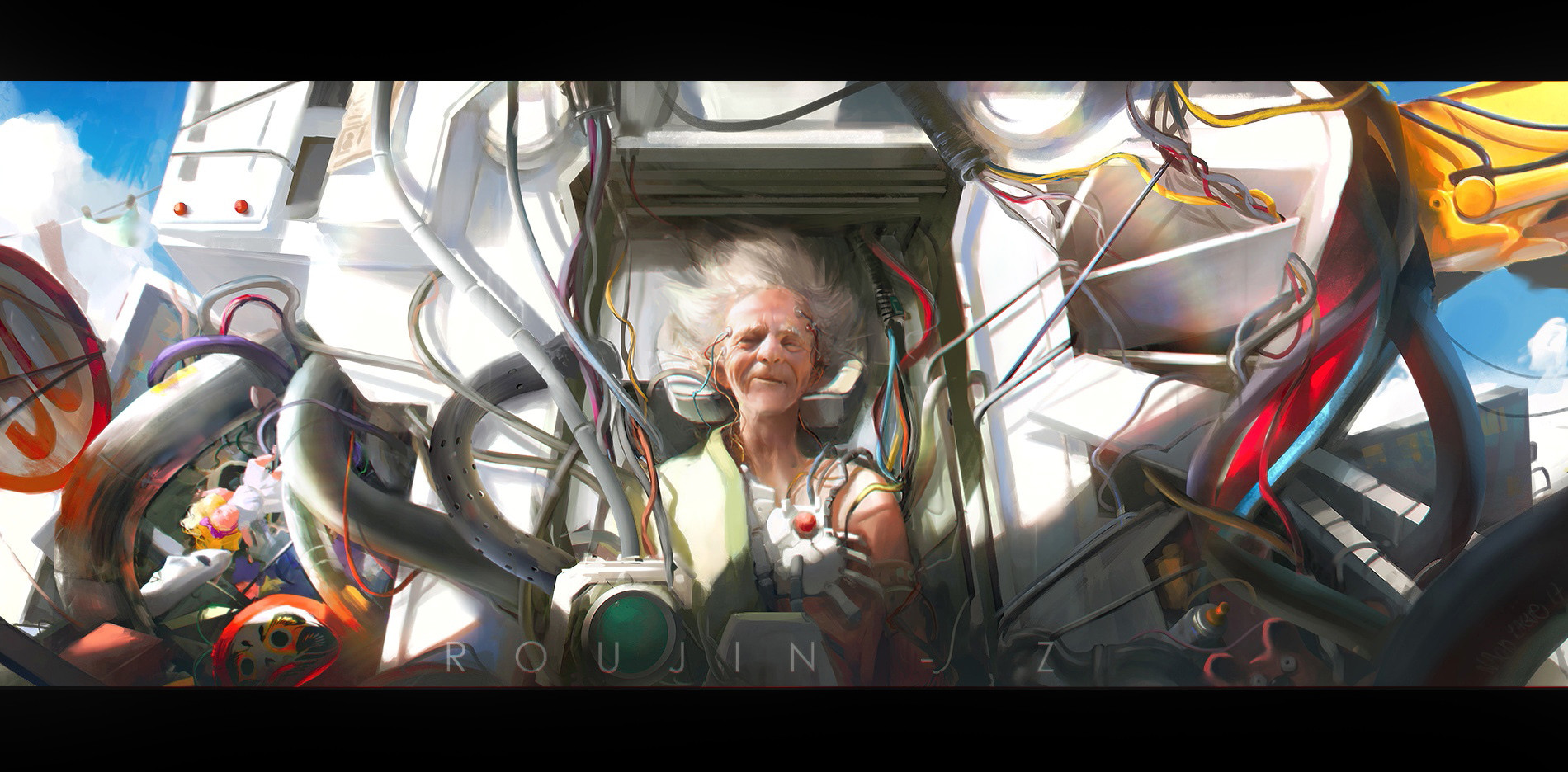 Nacho Yague Digital Painting Concept art Old man Roujin Personnal Work