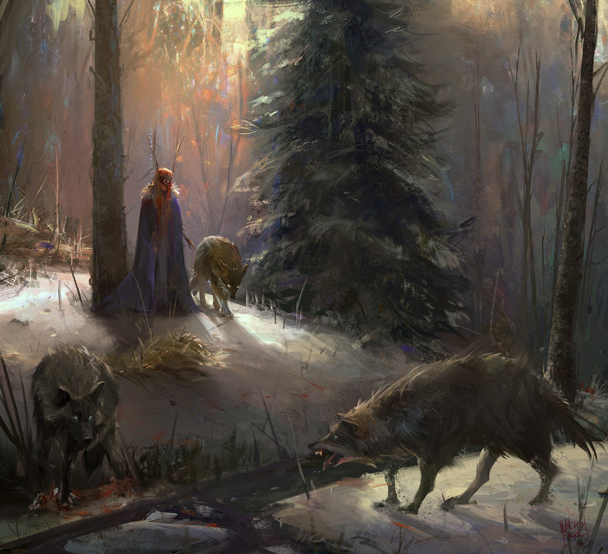 Nacho Yague Digital Painting Concept art personnal work forest