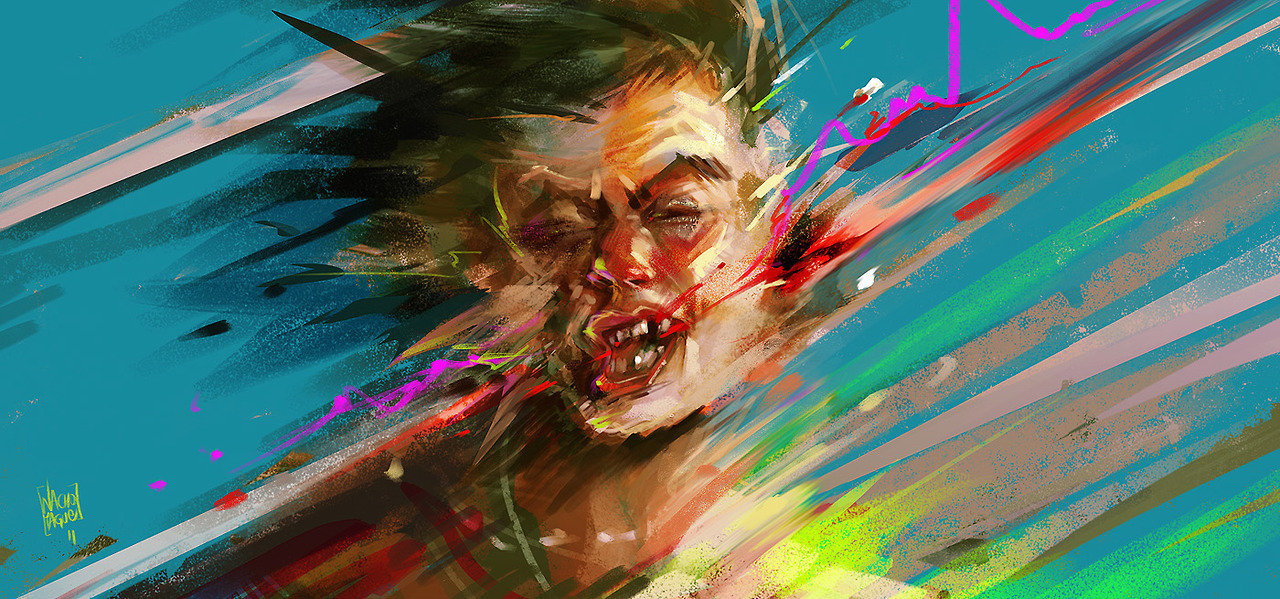 Nacho Yague Digital Painting Concept art Personnal Work Punch
