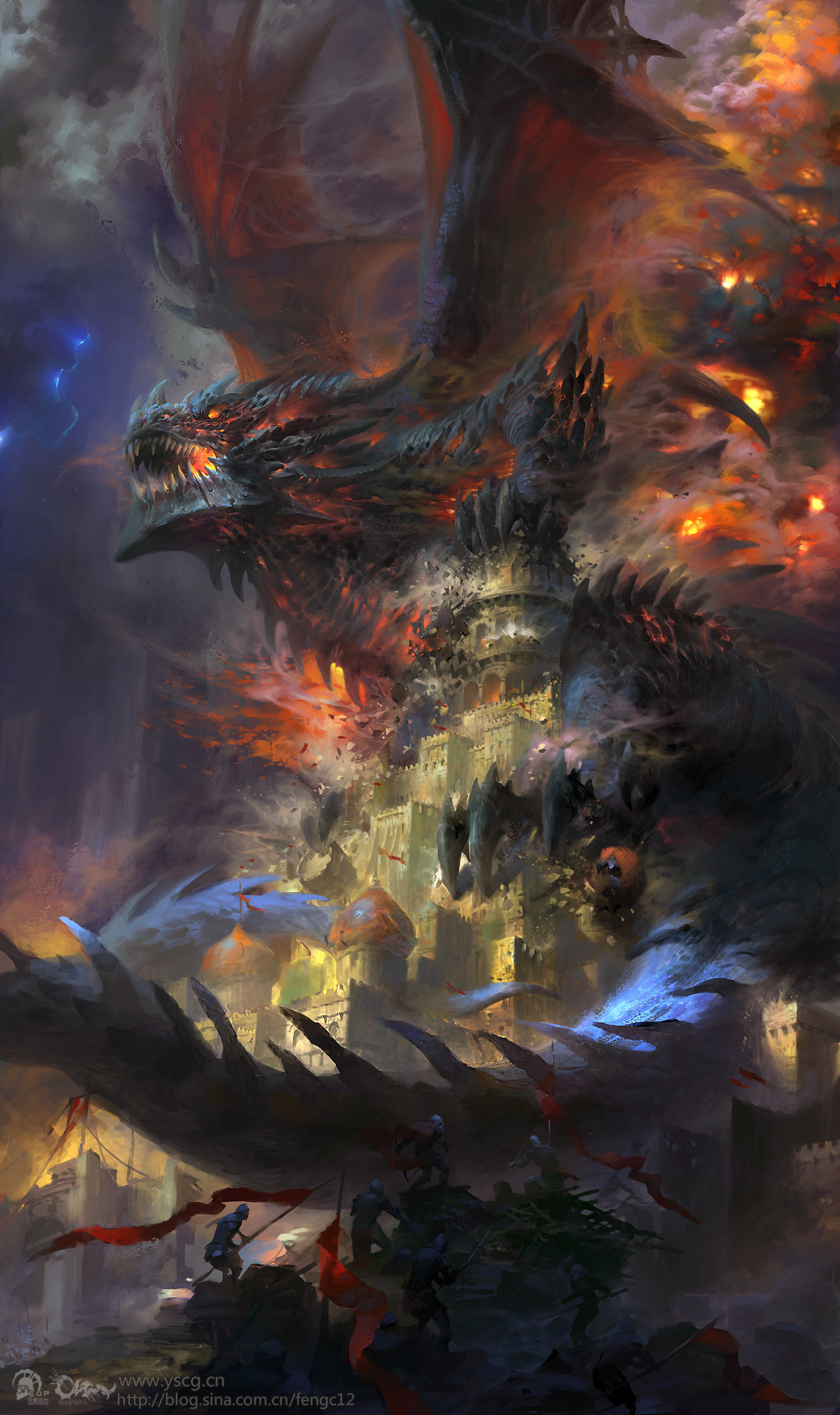 Wei Feng Digital Painting Illustration Dragon Deathwing