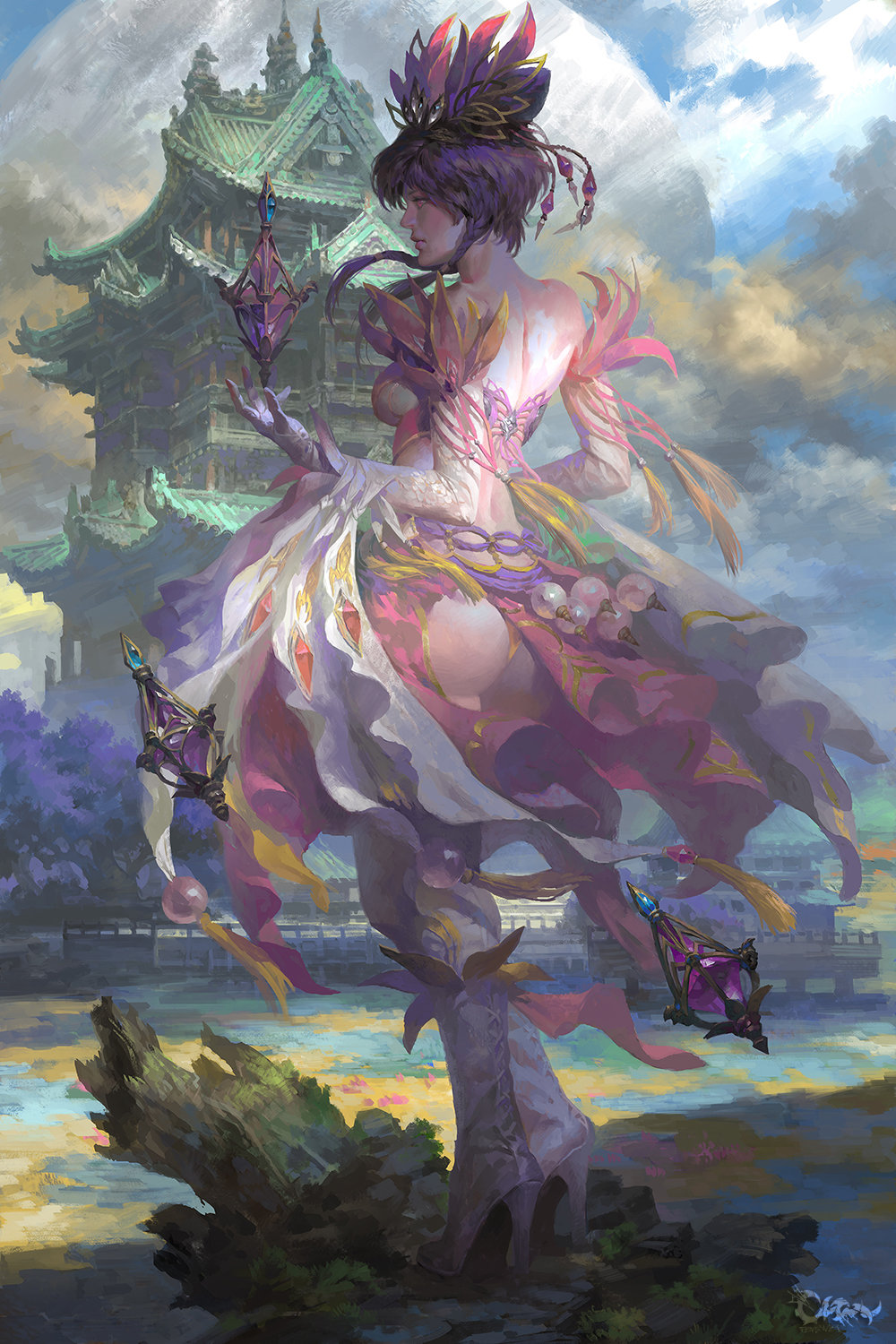 Wei Feng Digital Painting Illustration Concept Art woman fairy