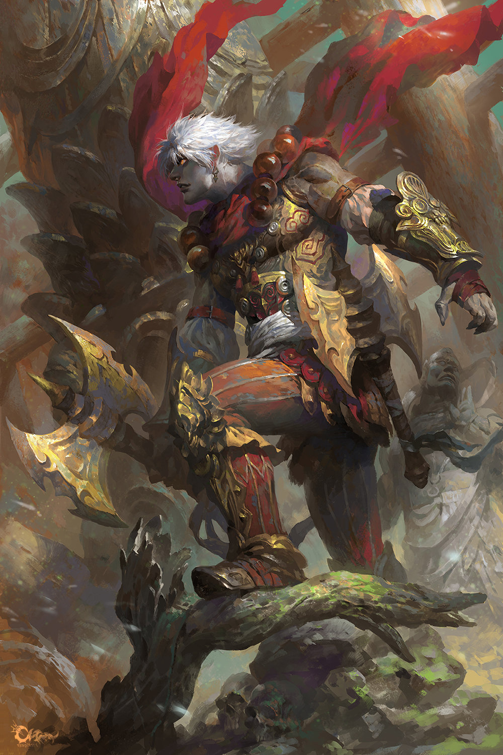Wei Feng Digital Painting Illustration concept art warrior