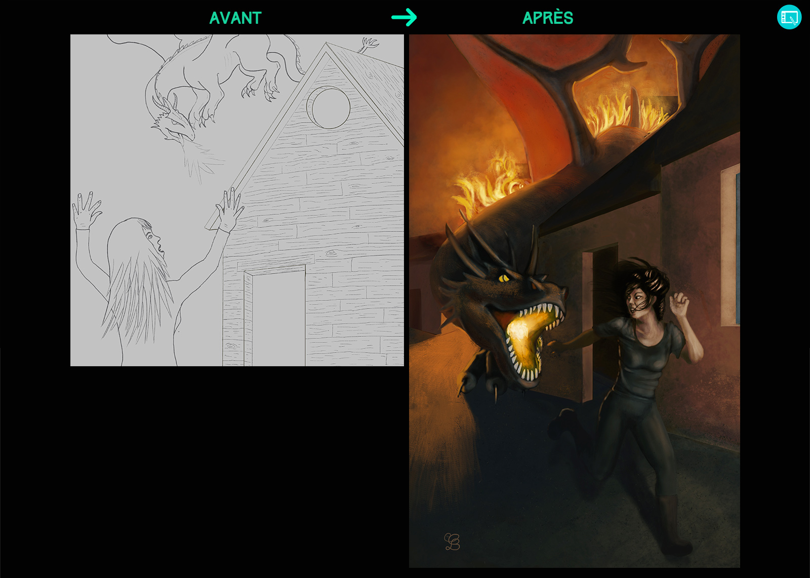 Progression dessin Autumn