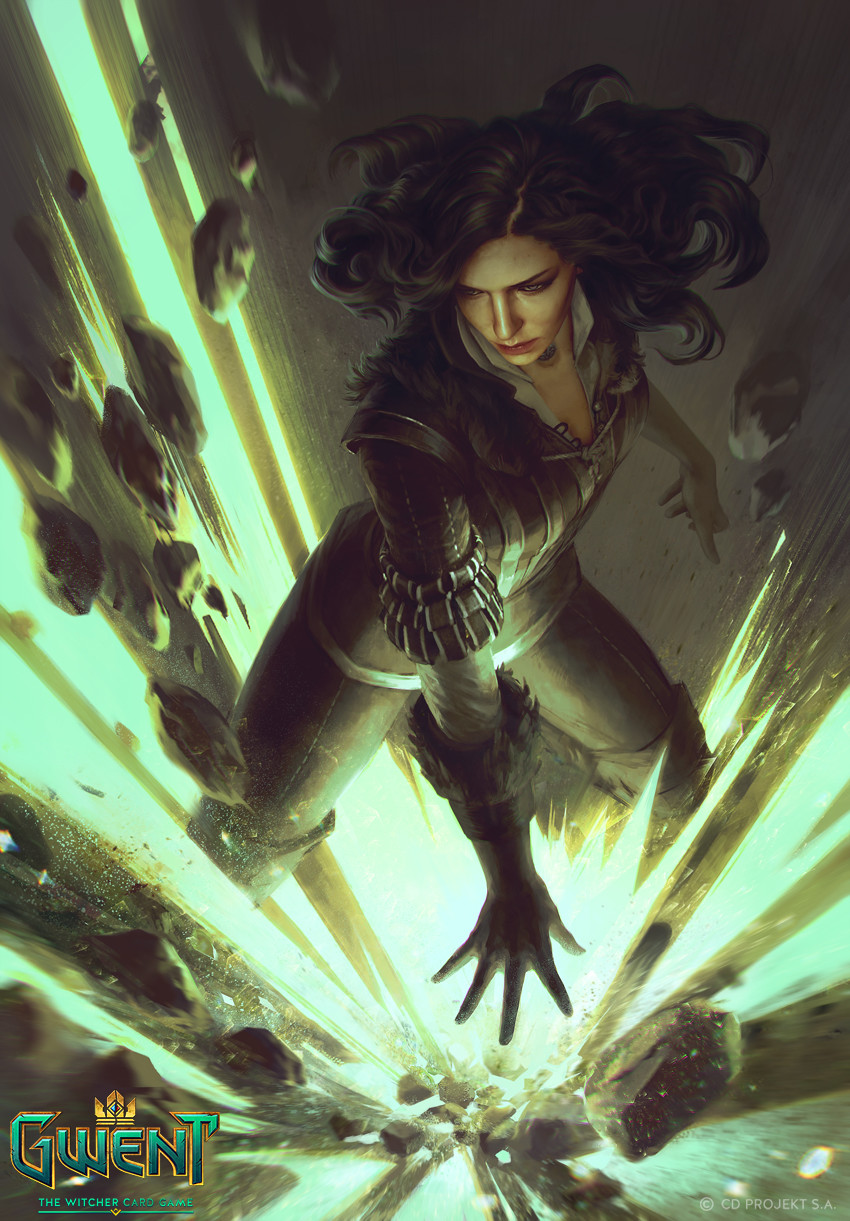 Anna Podedworna Illustration Card Gwent Yennefer