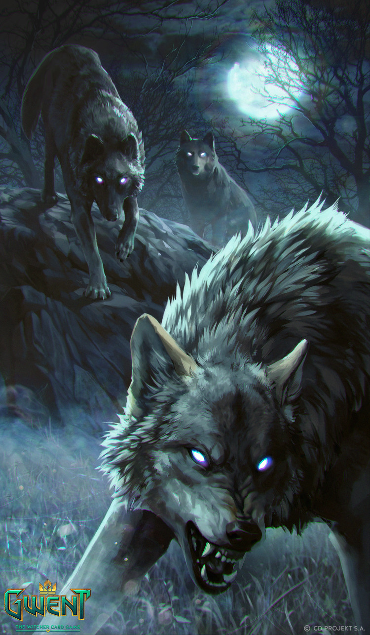 Anna Podedworna Illustration Card Gwent Rabid Wolf